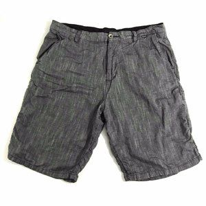 Hurley Gray Flat Front Chino Above The Knee Shorts